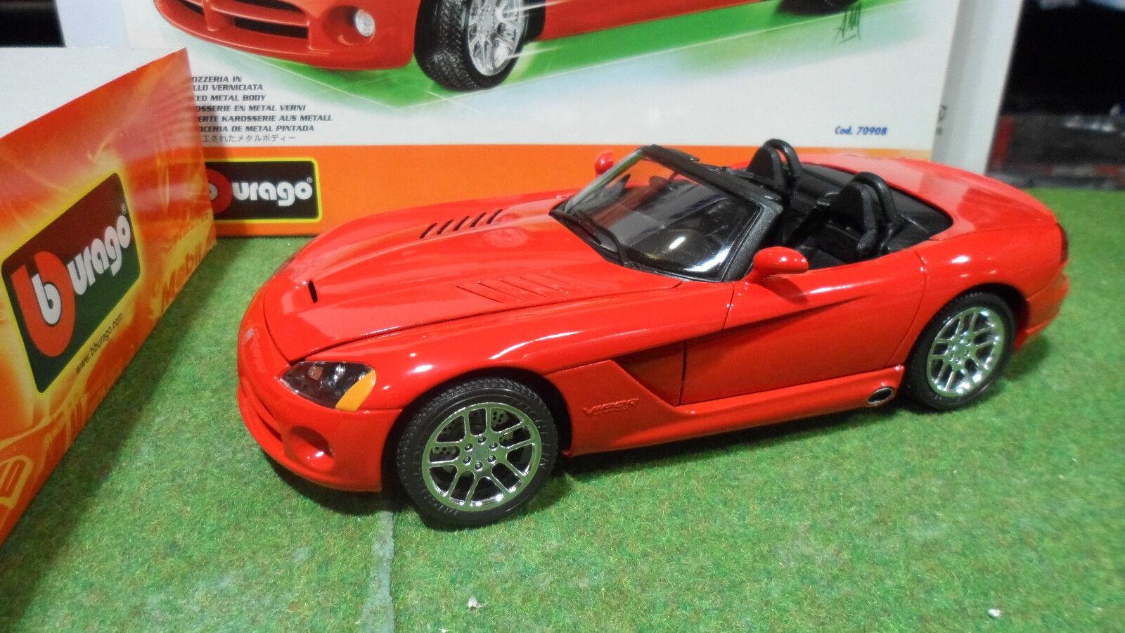 Dodge viper srt 10 convertible rouge 1 18  burago kit monte 70908 voiture miniature  différentes tailles