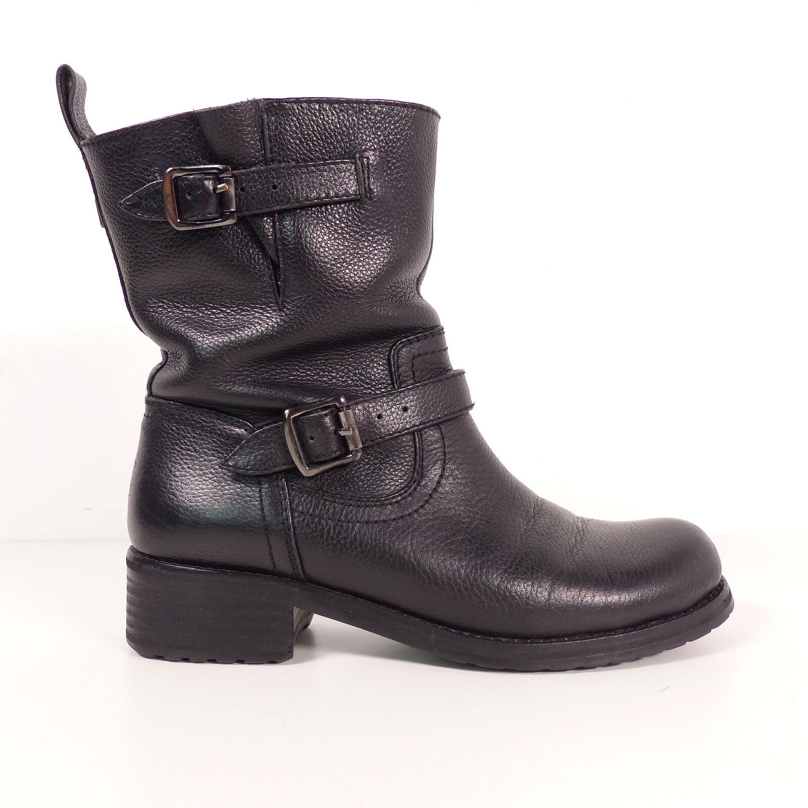 BELSTAFF Stiefel EUR 37 Schwarz Damen Biker Stiefel schuhe Leder Stiefel Leather