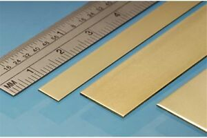 ALBION ALLOYS BS2M Laiton - Brass Strip 12 x 0.4 mm (4p.)