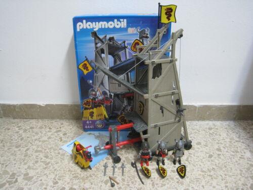 Medieval Playmobil Torre de Asalto Gris Ariete COMPLETO OVP 4441 -