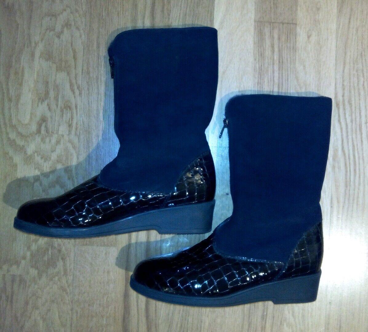 SEMLER Damen Schuhe Boots Gr. 39 schwarz wNEU Winter Winter Winter Lamm Fell Leder gefüttert 35206b