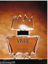 Publicité Advertising 1972 Parfum Vivre par Molyneux