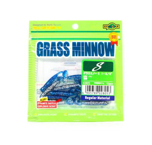 Ecogear Soft Lure Grass Minnow S 1-3//4 Inch 12 piece per pack 168 8053