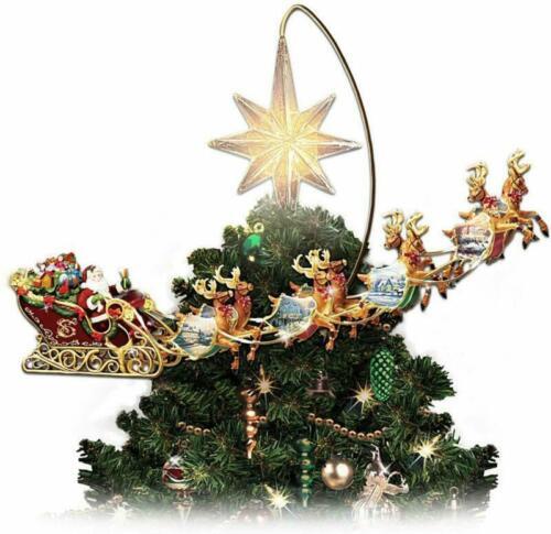 Holidays in Motion Rotating Illuminated Tree Topper Decor Christmas Animated