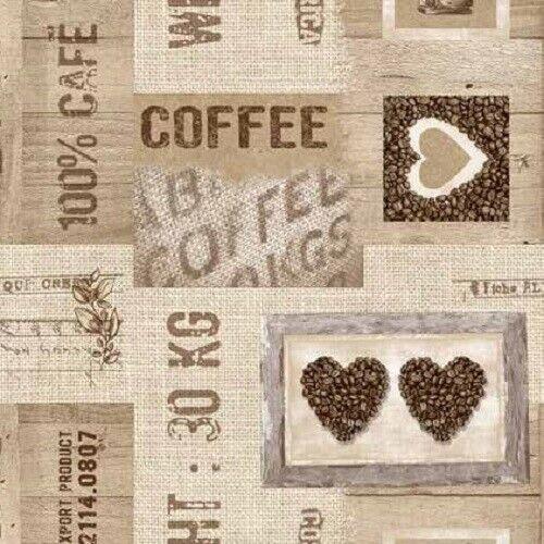Wachstuch Tischdecke Coffee Cafe Premium 06140-01 eckig rund oval