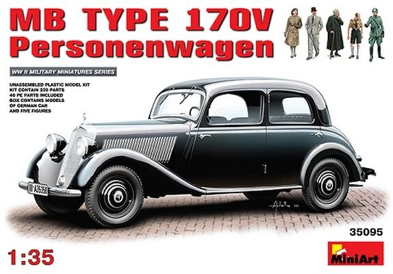 1 35 MB TYPE 170V  Personenwagen MINIART 35095 Models kits