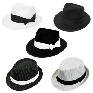 aedb1932710 ADULT GANGSTER HATS FANCY DRESS COSTUME AL CAPONE GATSBY HEAD GEAR ...