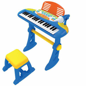 Lenoxx 2038 Toy Piano with Stand - Blue