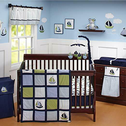 Zachary 7piece Crib Bedding Set