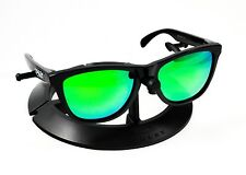 OAKLEY FROGSKINS POLISHED BLACK FRAME / REVANT EMERALD GREEN POLARIZED CUSTOM