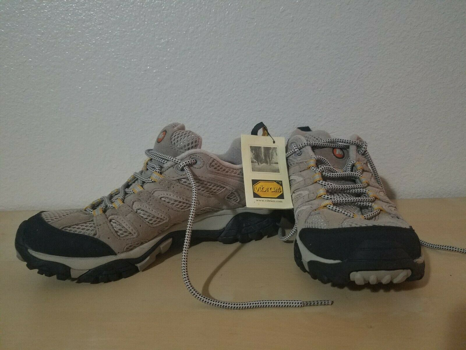 Merrell Womens Moab Ventilator Taupe Hiking Boots Size 8 Eur 38.5 Nwt Vibram