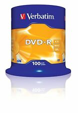 Verbatim (43549) : DVD-R 16x 100-pack :  Optical Media 100pk... EXPRESS DELIVERY