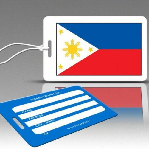 TagCrazy Luggage Tags Durable Plastic Loops-1 Pk Flag of the Philippines