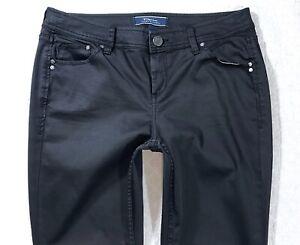 Tommy-Bahama-denim-Afton-Black-Overdye-Skinny-Stretch-Womens-Jeans-size-10-x-31