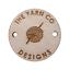 En bois de bouleau Cercle tags 30 mm en bois fait main personnalisé personnalisé Vêtements Crochet