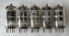 5 Fisher Telefunken 12ax7 / ECC83 Vacuum Tubes : <> Bottom / Smooth Long Plates