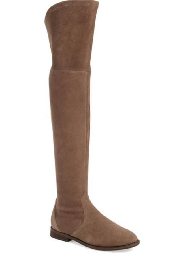 Gentle Souls Emma para Mujer gris Gamuza Marrón sobre la la sobre rodilla botas talla 8 7866  f77e4e