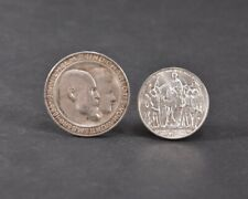 i99p46- 2x Silber Münze: 2 Mark 1913, 3 Mark 1911 Wilhelm II & Charlotte