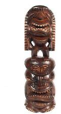 """LARGE 24"""" Hawaiian STACKED TIKI KANALOA & LONO - Tropical Decor. Great Gift!!"""
