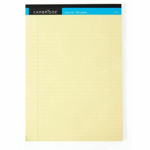 Cambridge Legal Pad Perforated Tear-off Feint Ruled Margin 100pp A4  10