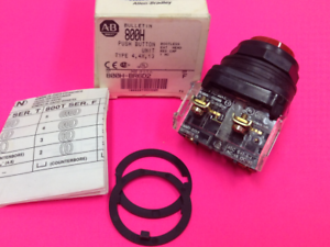Details about Allen-Bradley - Catalog #800H-BR6D2 - Red Push Button - NEW