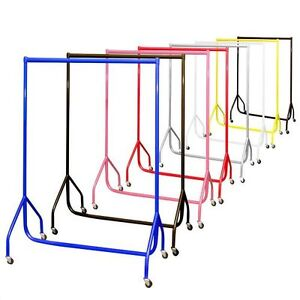 Heavy Duty Garment Rail Shop Display Wardrobe Clothes 6ft 5ft 4ft 3ft PINK