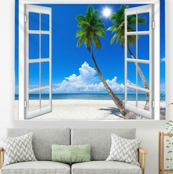 3D Kokospalme M352 Tapisserie Hängendes Tuch Hängen Wallpaper Wandbild Amy