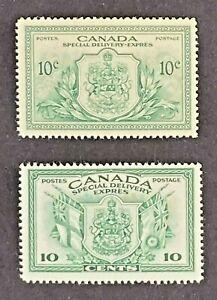 CANADA 1942- 1946 Special Delivery #E10-E11 MNH - Well centered - CV 24$+