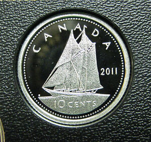 $0.10 2005 Canadian Silver Proof Dime