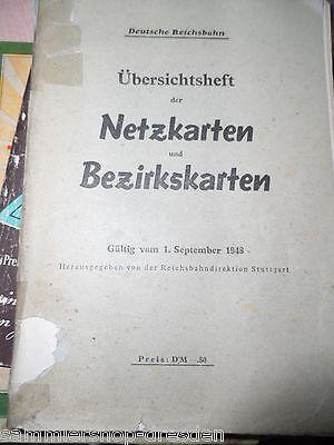 18190 Übersichtsheft Netzkarten Und Bezirkskarten Reichsbahn Deutsche 1948 Stgt