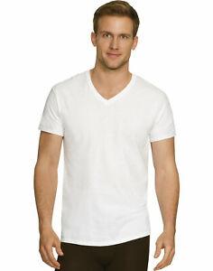 Hanes Mens Undershirt 4-Pack T-Shirt V-Neck Comfort Fit Ultra Soft Cotton Modal
