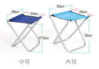 Portable Metal Folding Stool With A Little Chair Backrest Fishing Outdoor Bench