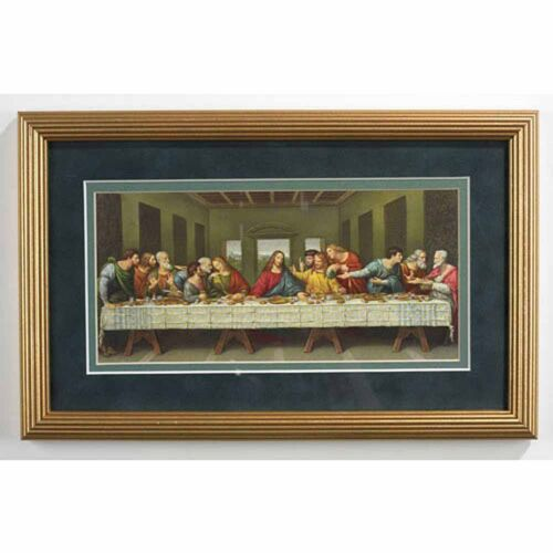 Da Vinci Last Supper Frame 13x8 Inches 08030 NEW Under Glass Double Mat