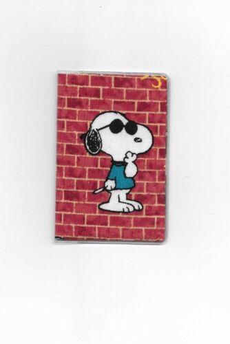 JOE COOL SNOOPY CREDIT CARD DEBIT CARD HOLDER FABRIC CHARLIE BROWN