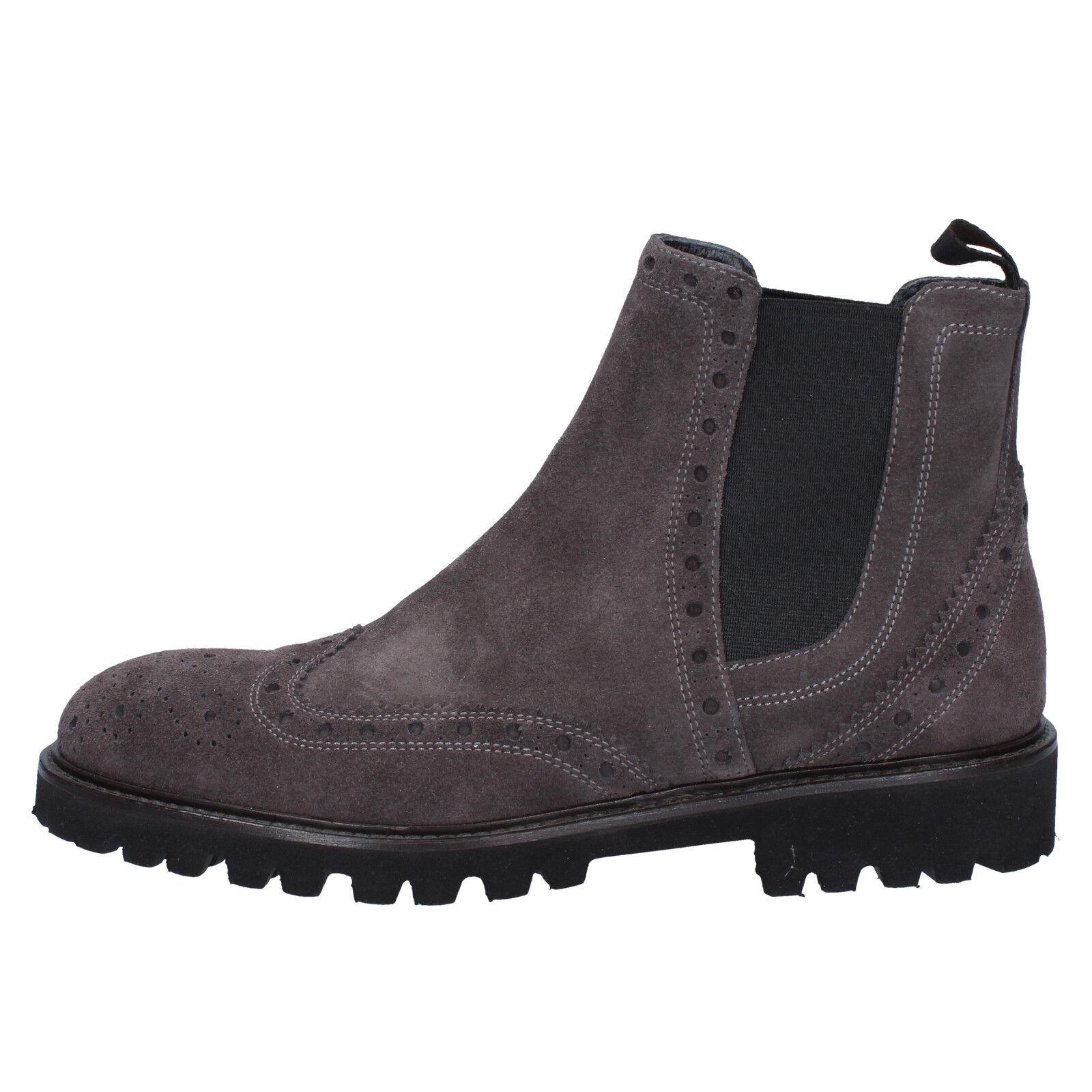 Zapatos de mujer baratos zapatos de mujer Nuevo preguntar a la señora Ante Gris Cremallera Botas Talla 7   74.99