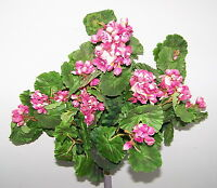 20 Artificial Silk Geranium Bush Spray Floral Decor Silk Plant