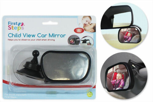 First Steps Child//Baby View Car Mirror Fully Adjustable Anti-Wobble Best Safe