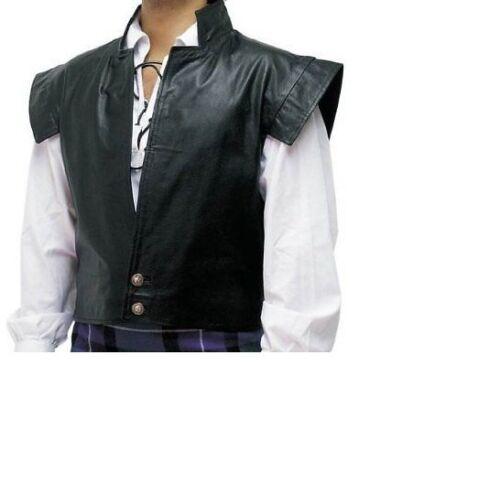 Vest Jacobite Kilt in Clansman Gilet Cosplay Larp Combo e Mens pelle vera xgw4Zp7q8