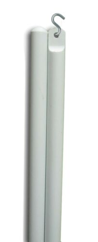 """60 Inch Long Blind Tilt Wand in White or Clear 3//4/"""" S Hook Included 1 Qty"""