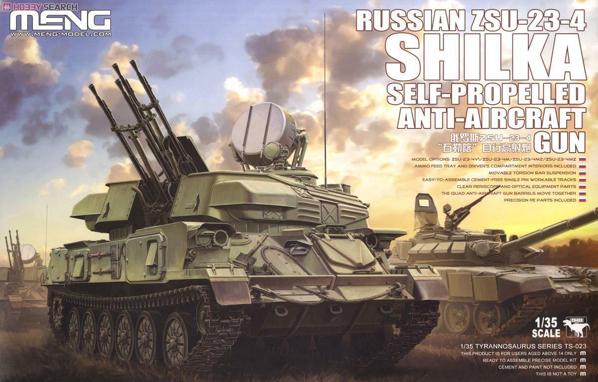Meng Model 1 35 Russian ZSU-23-4 Shilka Self-Propelled Anti-Aircraft Gun  TS-023