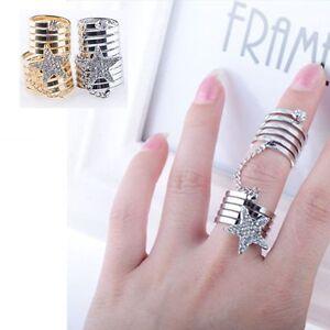Rings-Charm-Double-Finger-Ring-Crystal-Star-Ring-Pentagram-Ring-Jewellery