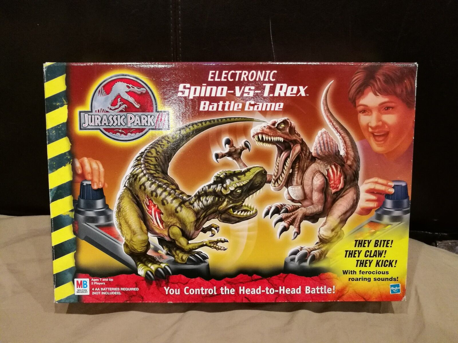 Jurassic Park 3 Electronic Spino vs T.Rex Battle Game boxed