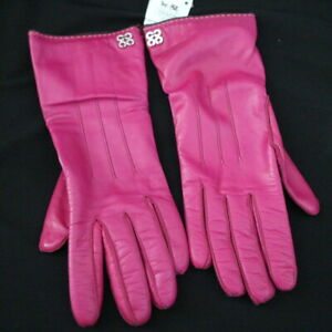 NWT-COACH-81918-Pink-Soft-Leather-Cashmere-Lined-Gloves-Sz-7-5-NEW-98