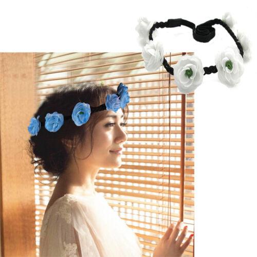Party Wedding Bridesmaid Floral Flower Festival Forehead Headbands Hair Garland
