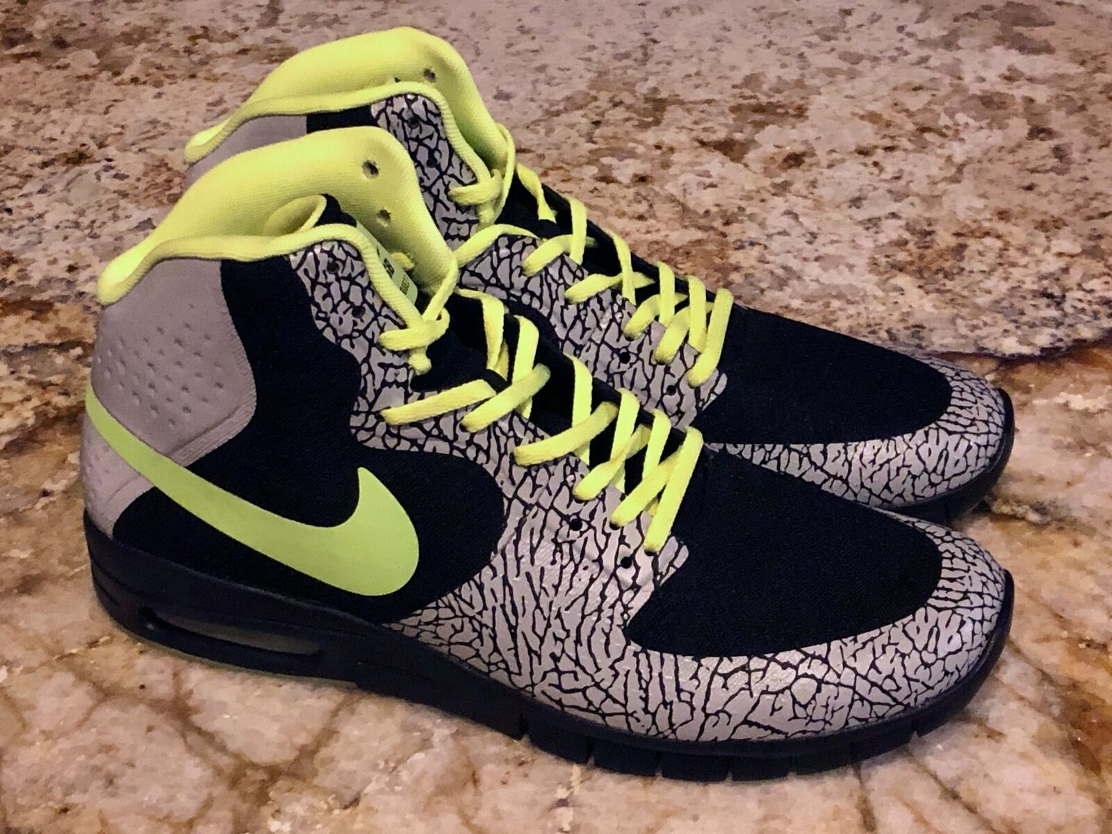 NIKE SB Paul Rodriguez Hyperfuse Max P 112 Black Grey Volt shoes NEW Mens 10.5