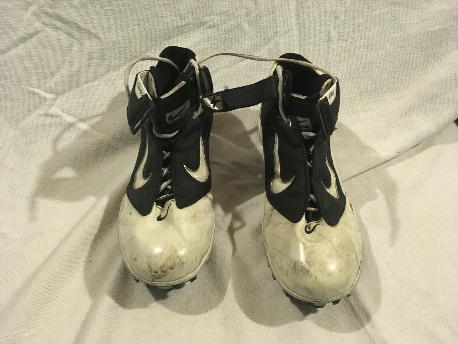 Mens Nike Air LT Superbad Black White 11.5 Lace Up Athletic Sports Cleats Cheap and beautiful fashion