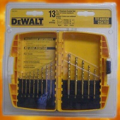 "13 Piece 1//4/"" Titanium Coated Hss Drill Bit Set For Wood Or Metal Power Bit Set"