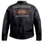 Harley Davidson Men's Classic RIDE READY Black Leather Jacket L 98000-10VM New