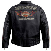 Harley Davidson Men's Classic RIDE READY Black Leather Jacket XL 98000-10VM New