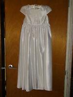 M&s/autograph Beautiful Satin-finish Holy Communion Dress 9yrs 134cm White